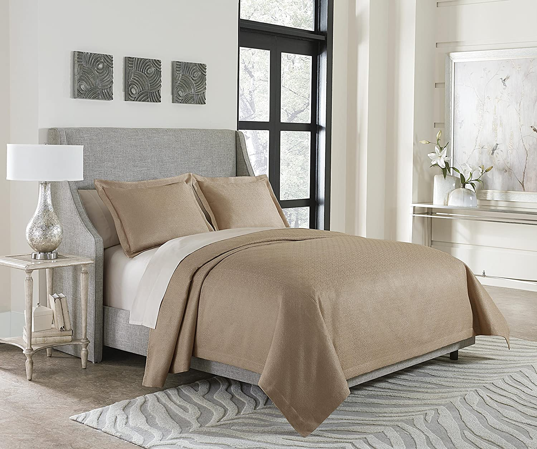 Michael Amini BCS-KBT3-ALTON-GLD Alton 3pc High quality Bed Wholesale King Set Go Throw