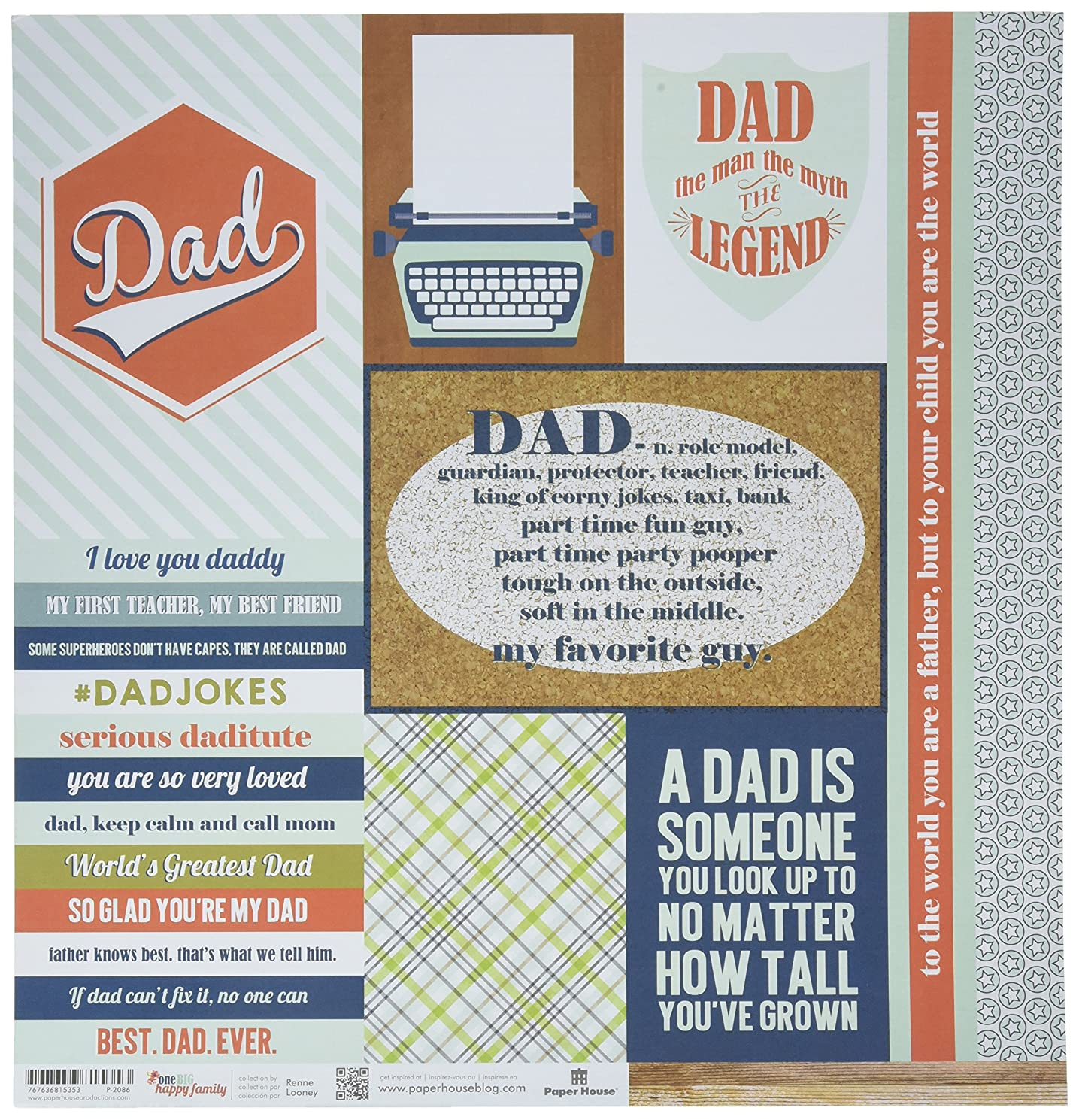 Paper House Productions Dad Tags Paper Craft Product (15 Pack), Piece