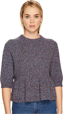 Multicolor Mouline Wool Yarn Top