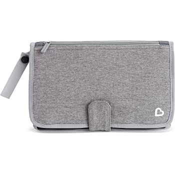 Munchkin Portable Diaper Changing Kit with Changing Pad and Wipes Case, Grey