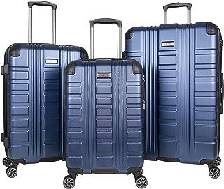 "Kenneth Cole Reaction Scott's Corner Hardside Expandable 8-Wheel Spinner TSA Lock Travel Suitcase, Navy, 3-Piece Set (20"",..."