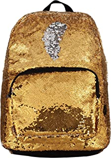 Style.Lab by Fashion Angels Magic Sequin Backpack - Gold to Silver