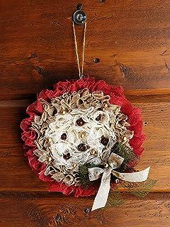 Ghirlanda Natalizia Stile Rustico Idea Regalo Decorativa Natale Capodanno Parete Porta Arredamento Decorazione