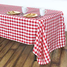 LinenTablecloth 102 Inch Rectangular Tablecloth Checker