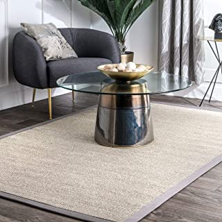 nuLOOM Chloe Bordered Area Rug, 10' x 14', Grey