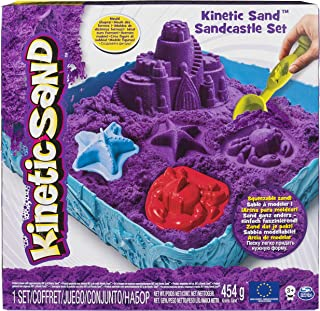 Kinetic Sand The One Only Sandcastle Set 1lb Sand, Molds Tools, Purple Sand