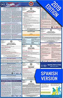 2019 Delaware (Spanish) Labor Law Poster – State, Federal, OSHA Compliant – Single Laminated Poster