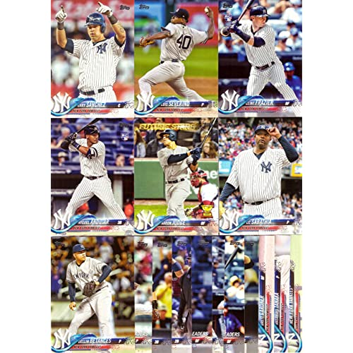 2018 Topps Series 1 New York Yankees Baseball Card Team Set - 17 Card Set - 720727c5387