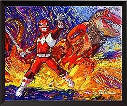 Uhomate Superhero Mighty Morphin Power Rangers Wall Decor Vincent Van Gogh Starry Night Posters Home Canvas Wall Art Print Baby Gift Nursery Decor Living Room Wall Decor A080 24X30 inch