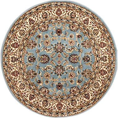 Well Woven Barclay Sarouk Light Blue Traditional Area Rug 5'3  Round