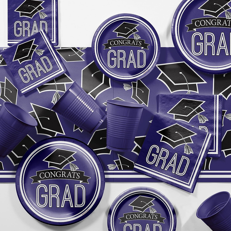Graduation School Be super welcome Spirit Sale price Purple Party Kit 18 Supplies Serves