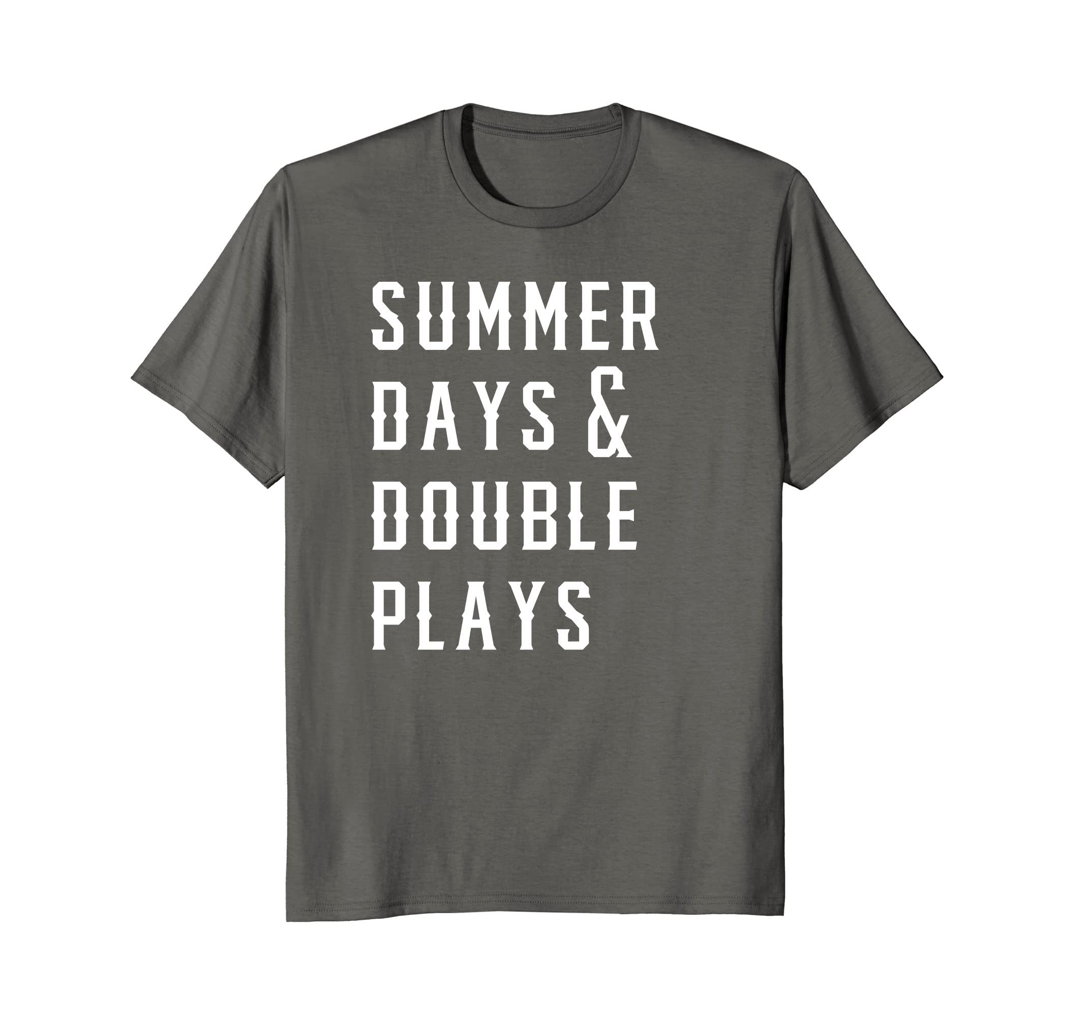 d1976657afa6 Amazon.com  Summer Days And Double Plays Shirt  Clothing