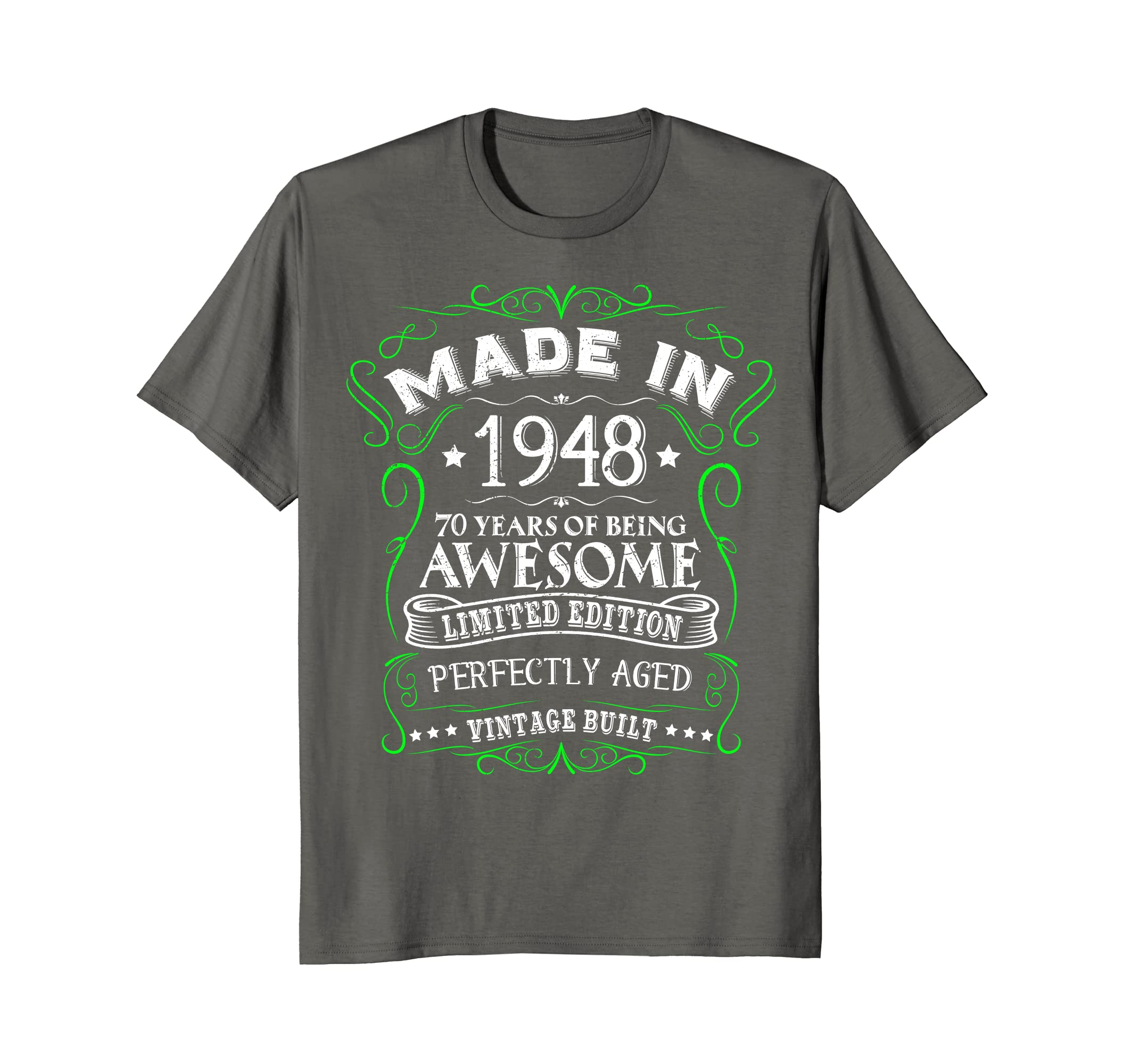 Amazon Made In 1948 Vintage 70 Years Being Awesome Birthday T Shirt Clothing