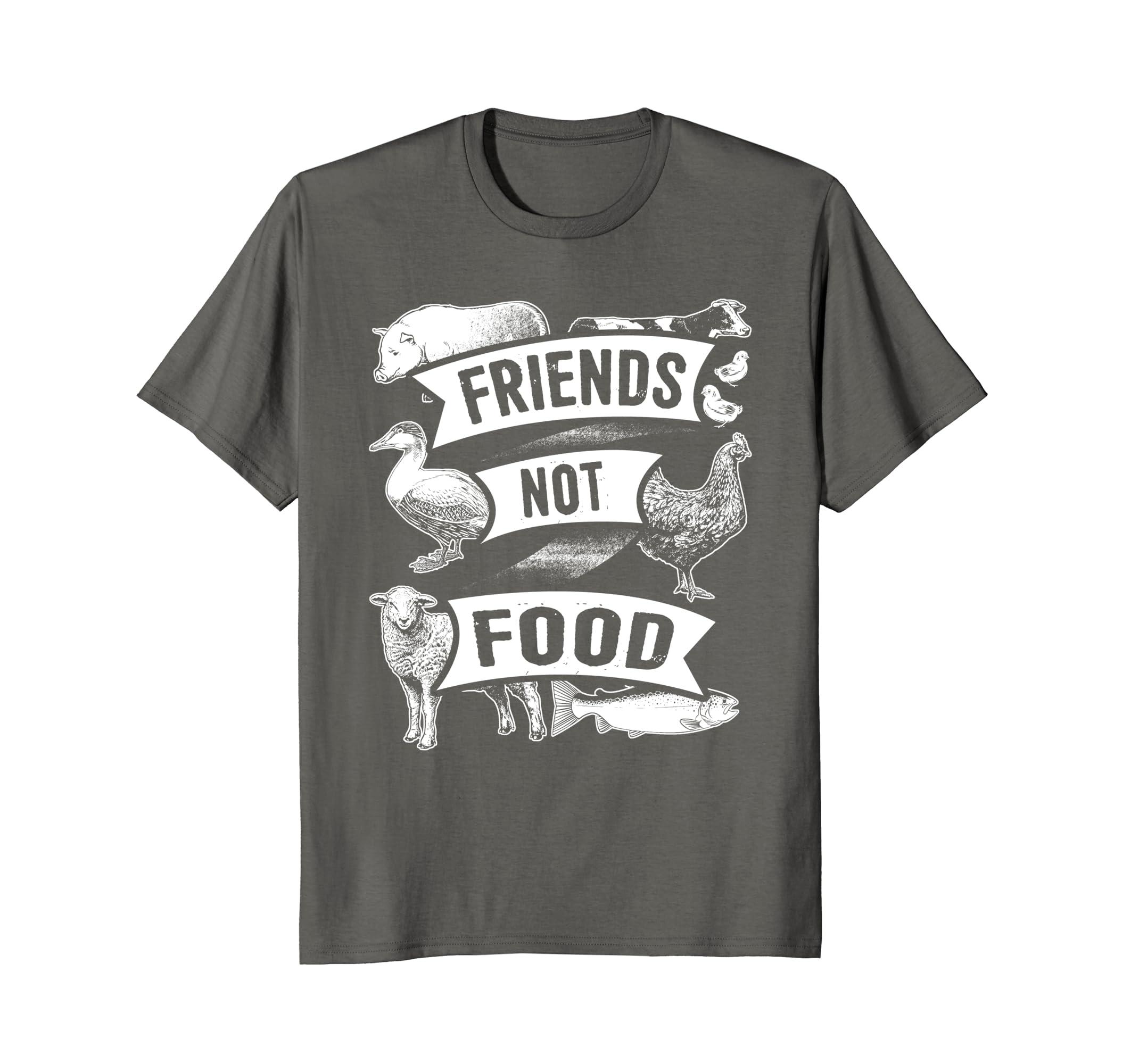 2d7843b6e Amazon.com: Friends Not Food T-Shirt Funny Vegetarian Vegan Apparel:  Clothing
