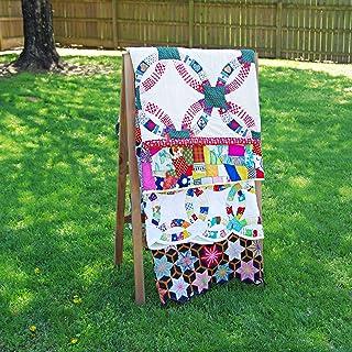 OFTO Handmade Quilt Rack - 4-Tier Quilt Ladder Holds 7 Blankets or Afghans for