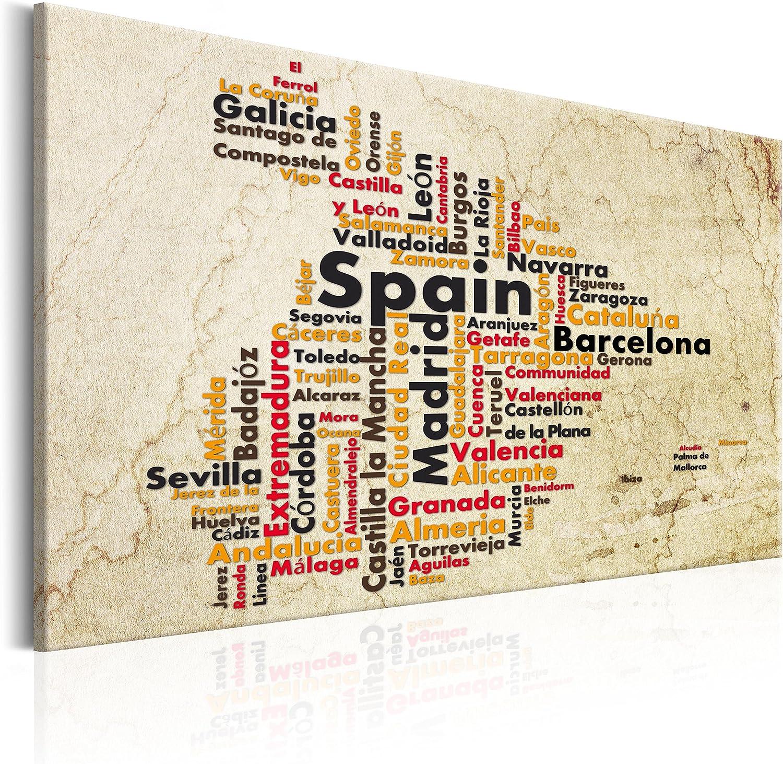 Murando Bilder 120x80 cm cm cm - Leinwandbilder - Fertig Aufgespannt - 1 Teilig - Wandbilder XXL - Kunstdrucke - Wandbild - Poster Polen Spanien Weltkarte Kontinente Welt Karte k-C-0032-b-a B06XTRJKY8 cffb45