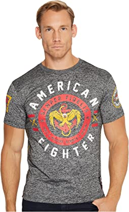 American Fighter - Semper Fi Short Sleeve Tetris Mock Twist Tee