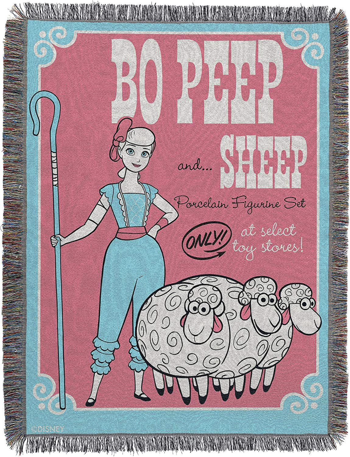 Toy Limited time cheap sale Story Bo Peep Sheep Throw Woven shop Tapestry Blanket