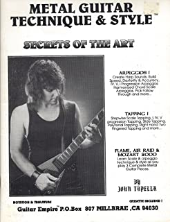 1991 Metal Guitar Technique and Style Secrets of the Art. No Cassette. Original 1991 Out Of Print. John Tapella