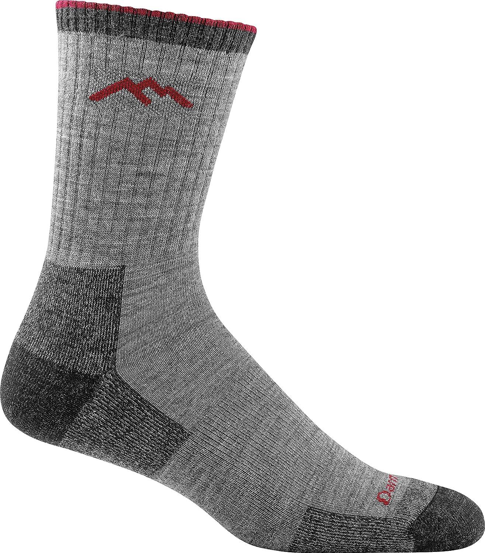 Darn Tough US Darn Tough Men's Merino Wool Hiker Micro Crew Cushion Sock (Style 1466) 6 Pack (Chocolate, X)