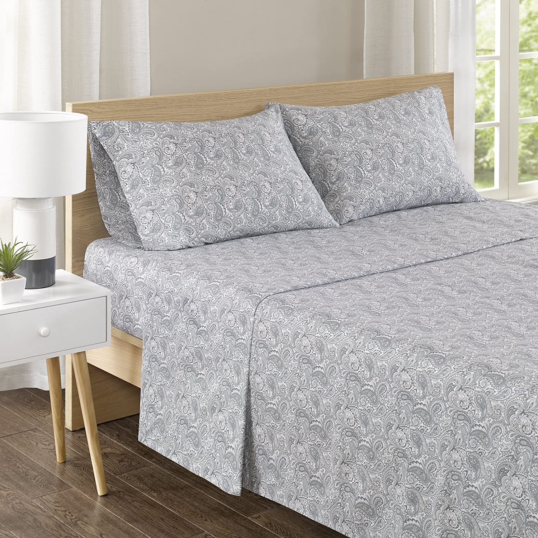 Super sale period limited Comfort Spaces 100% Cotton Percale 4 Piece Breath NEW Set Ultra Soft