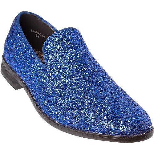 Men S Blue Wedding Shoes Amazon Com