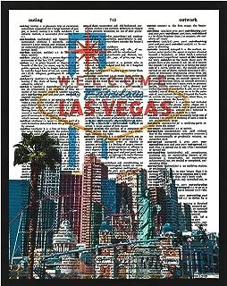 Signature Studios Las Vegas Strip photo Dictionary Art Print Wall Decor 8x10