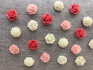 Ballm 30 Pcs Decorative Thumb Tacks Colorful Cute Pushpins for for Photos Wall, Maps, Bulletin Board or Corkboards. (Pink)
