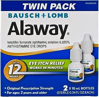 Bausch + Lomb Alaway Antihistamine Eye Drops, 0.34 Ounce Bottle Twinpack