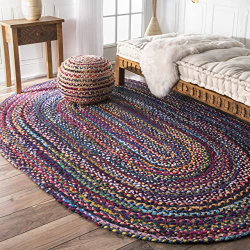 Braided Blue Rugs Amazon Com