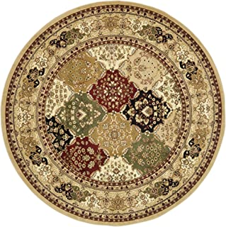 Safavieh Lyndhurst Collection LNH221C Traditional Multi and Black Square Area Rug (10' Square)