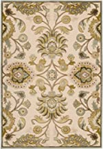 Remi & Cabot Artistic Weavers Lauren Ivory Viscose and Chenille 4 ft. x 5 ft. 7 in. Area Rug