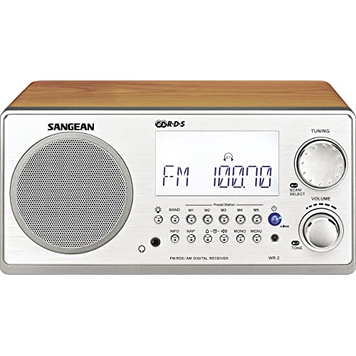 Sangean WR-2 Radio analogique AM / FM avec RDS Alarme Haut-parleur Gris