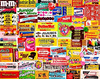 White Mountain Puzzles Candy Wrappers - 1000Piece Jigsaw Puzzle