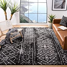 Safavieh Adirondack Collection ADR111C Black and Silver Contemporary Bohemian Distressed Area Rug (6' x 9')