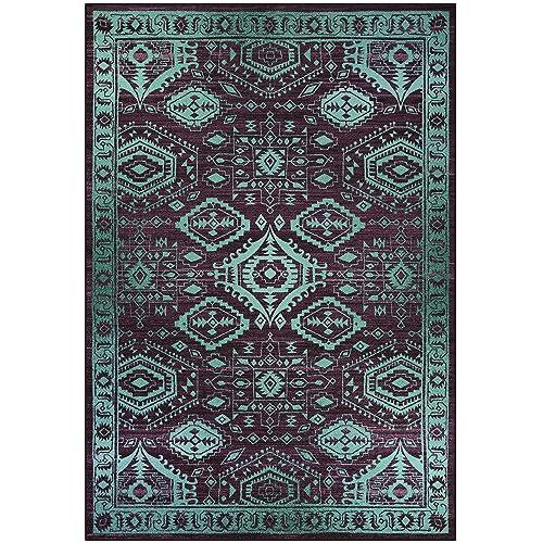 Teal Area Carpet Amazon Com