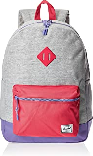 Herschel Kids' Heritage Youth X-Large Backpack, Light Grey Crosshatch/Raspberry Sorbet/aster Purple, One Size