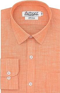 Arihant Plain Solid 100% Cotton Full Sleeves Regular Fit Formal Shirt for Men