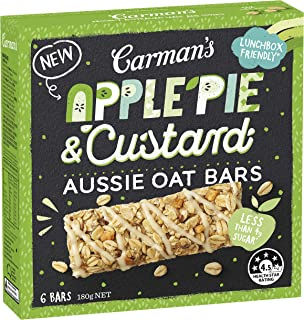 Carman's Bar Aussie Oats Apple Pie & Custard, 180 g, Apple Pie & Custard