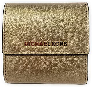 bd2b553949f1 Michael Kors Jet Set Travel Small Card Case Trifold Carryall Leather Wallet