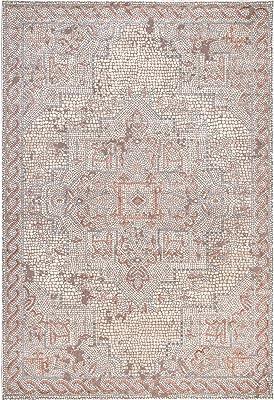 "nuLOOM Eloise Traditional Medallion Area Rug, 4' x 5' 6"", Ivory"