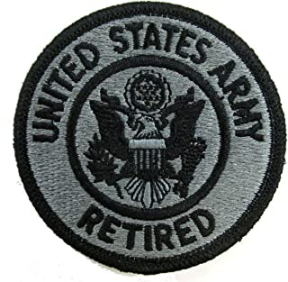 United States Army Retired Patch with Hook Fastener - ACU Foliage Green