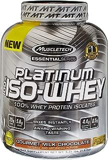 MuscleTech Platinum 100% ISO Whey, 100% Whey Protein Isolates Powder, Gourmet Milk Chocolate, 3.34 lbs (1.51kg)