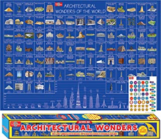 T.S. Shure Architectural Wonders Pictorial Poster Architeture Poster