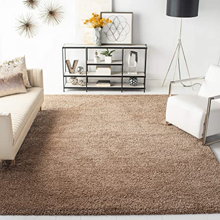 10 x 14 Beige Safavieh August Shag Collection AUG200D 1.5-inch Thick Area Rug