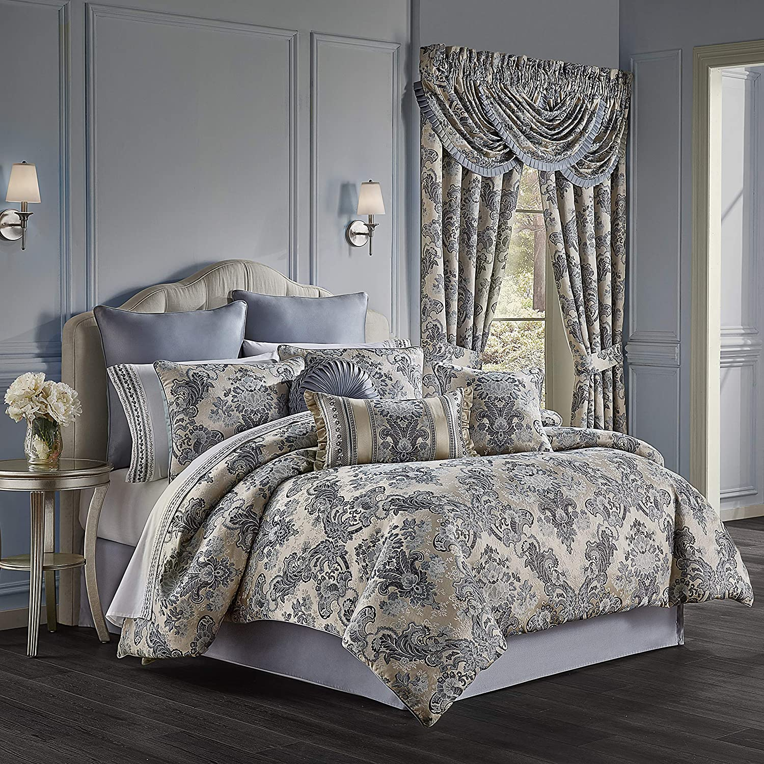 Five Queens Court Geraldine Woven Damask Discount mail order Floral Jacquard Luxury Clearance SALE Limited time