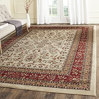 Safavieh Lyndhurst Collection LNH331A Traditional Oriental Ivory and Red Area Rug (8' x 11')
