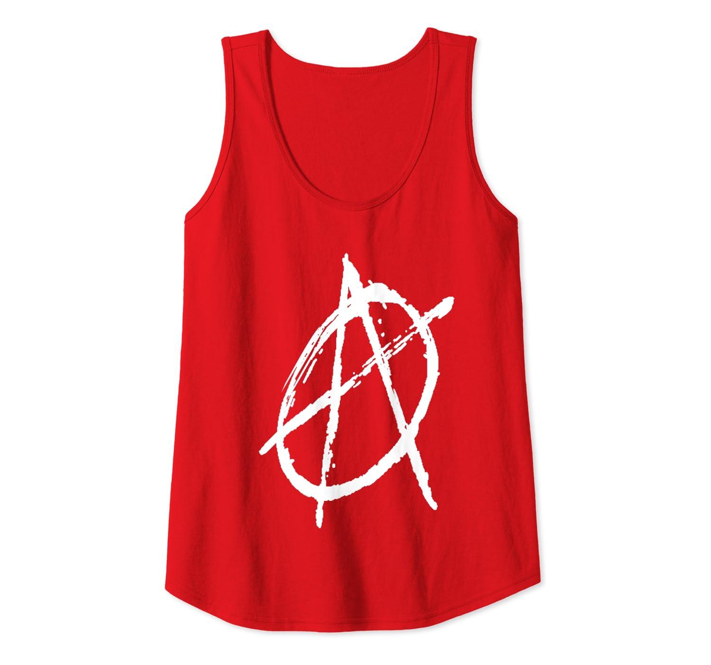S/ímbolo de la anarqu/ía Punk Moda Arte Camiseta sin Mangas