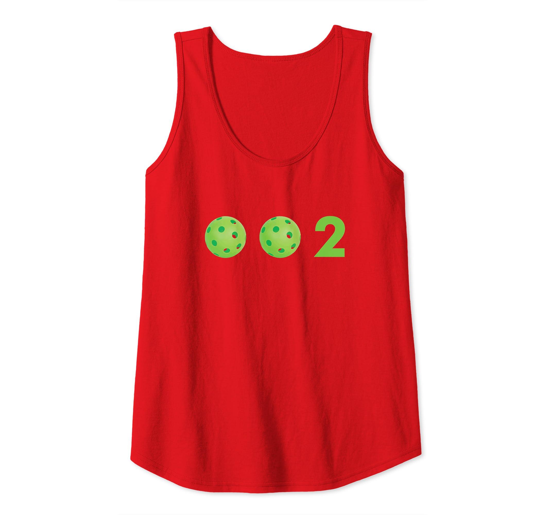 295b145b9 Amazon.com: Zero, Zero, Two - 0, 0, 2 Cute Funny Pickleball Apparel Tank  Top: Clothing