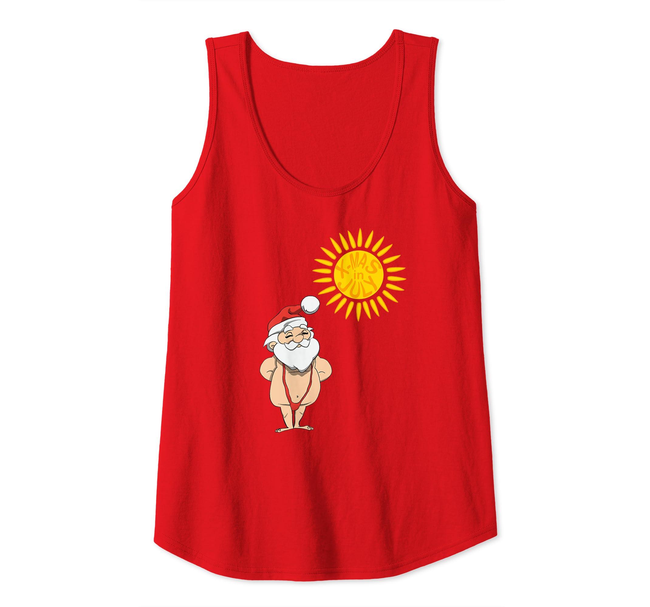 Christmas In July Swimsuit.Amazon Com Xmas In July Santa Sunbathing In Red Mankini